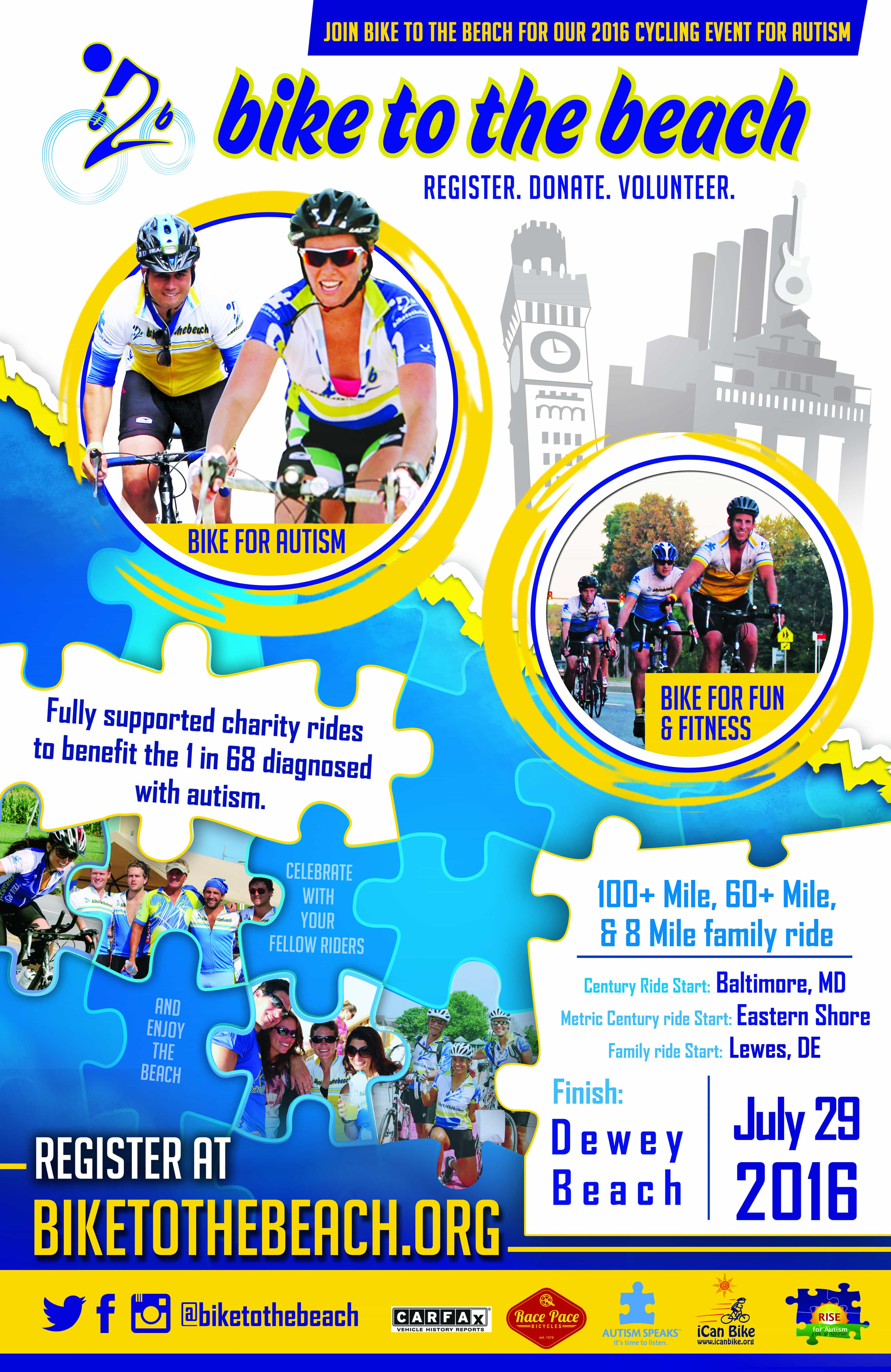 fundraising posters and flyers bike to the beach our 2016 b2bmd poster